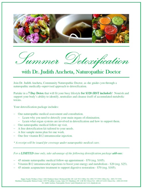 Summer Detoxification with Dr. Judith Ancheta, Naturopathic Doctor