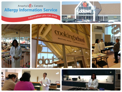 Loblaws Cooking School Anaphylaxis Collage